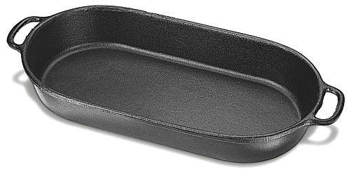 assadeira de ferro fundido oval, travessa de ferro, 46, tabuleiro de ferro, forma de ferro