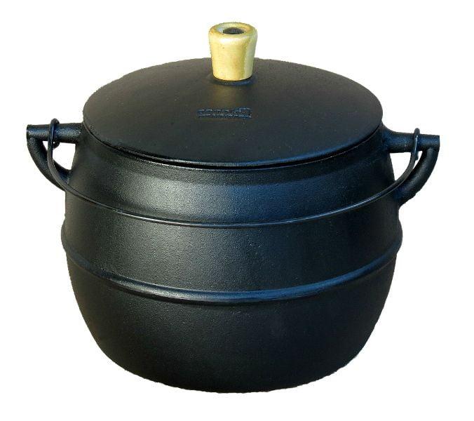 caldeirão de ferro bojudo 6 litros, cumbuca de ferro, panela de ferro, panela de feijoada de ferro