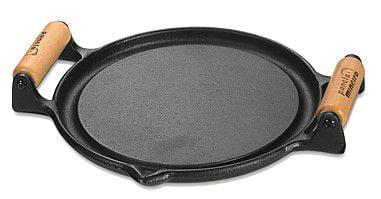 comprar bifeteira de ferro fundido, 22,5cm, redonda, grelha, chapa de ferro lisa, panela mineira, alça
