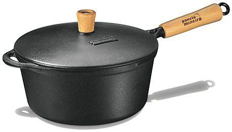 panela de ferro fundido, caçarola, cacarola, 2,2 litros, panela mineira,cabo