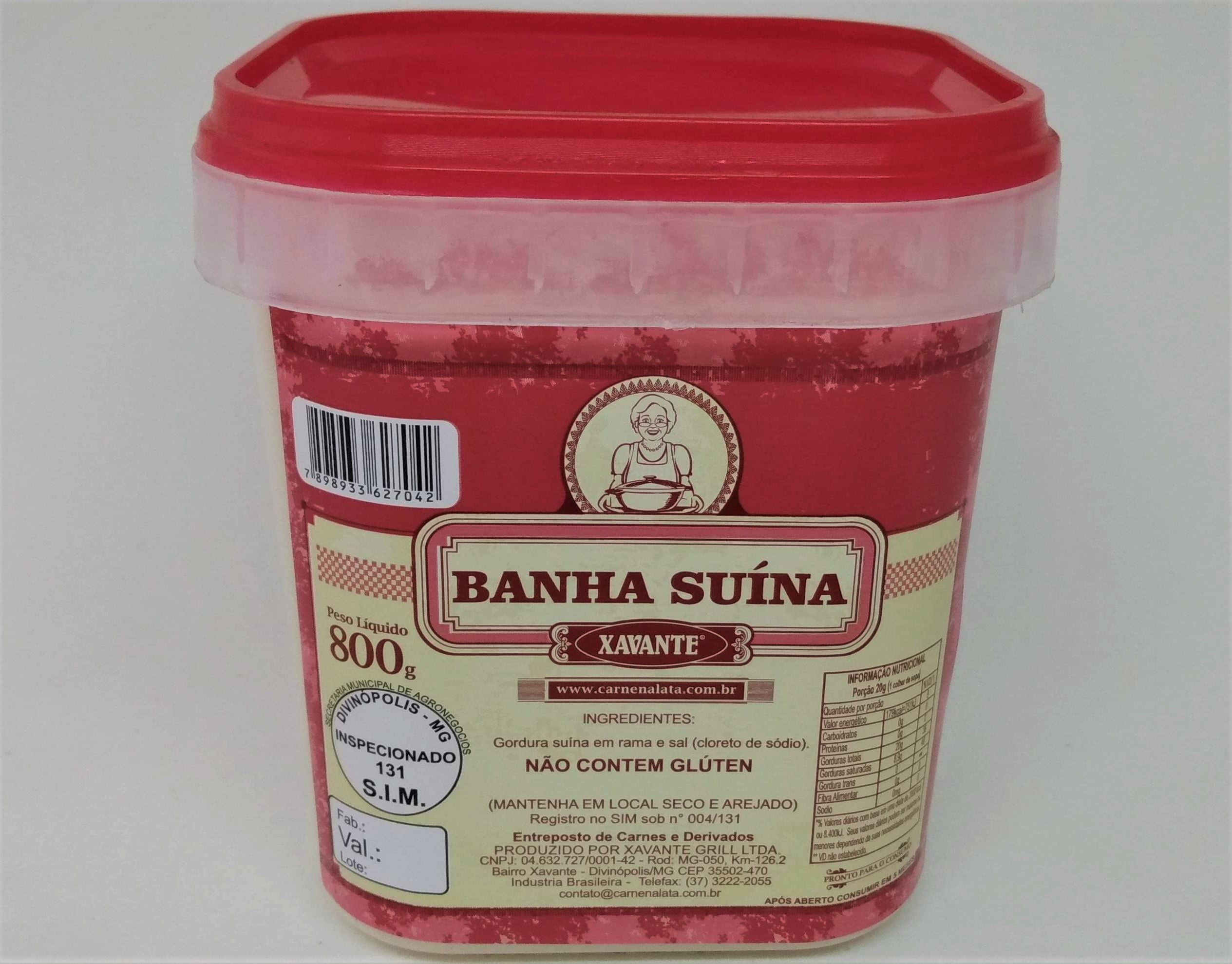 carne na lata, banha suina, carne na gordura, carne suina, pernil, xavante, paçoca, farinha