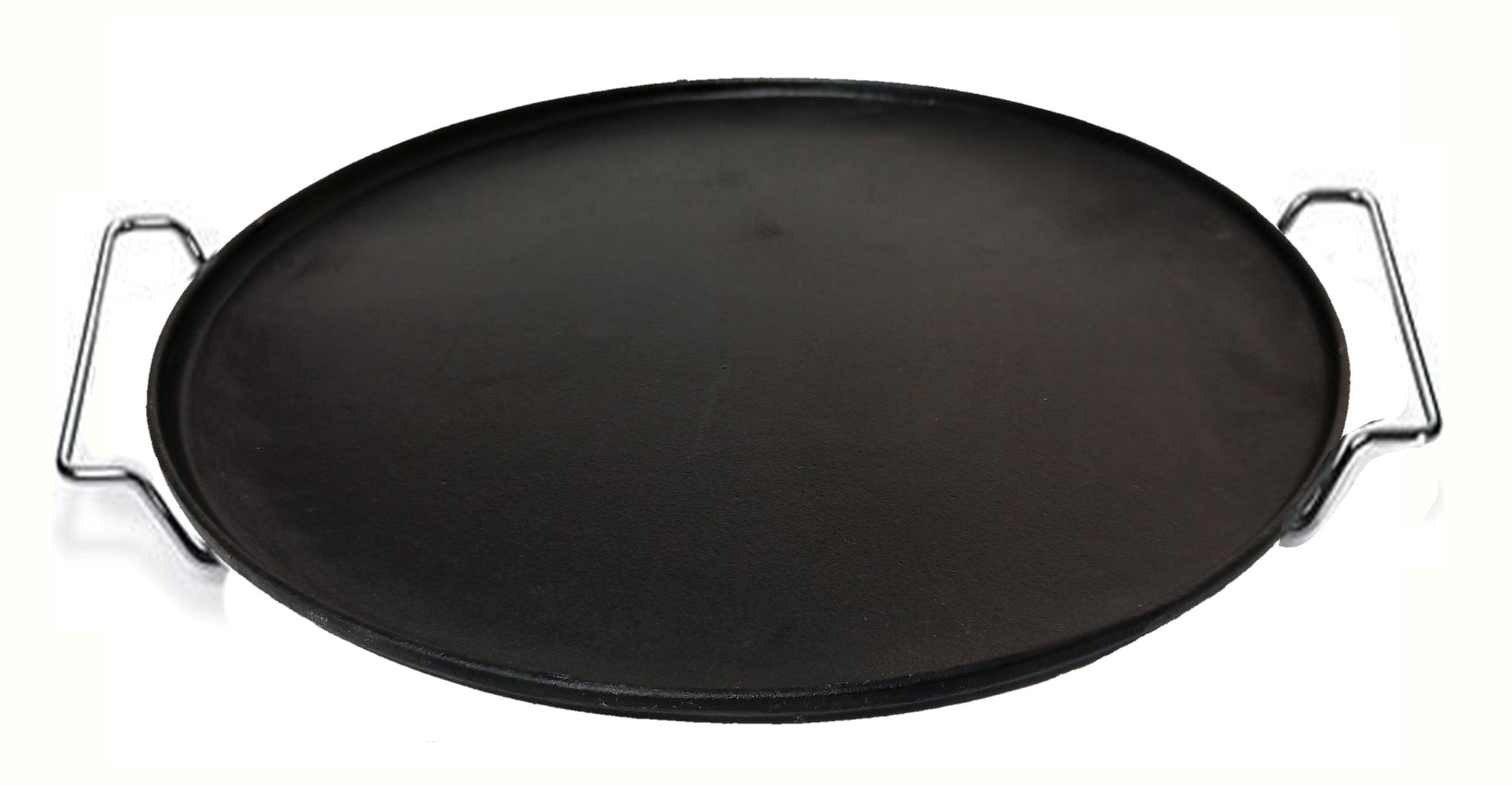 forma de pizza de ferro fundido 40 cm, forma de pizza de pedra com suporte
