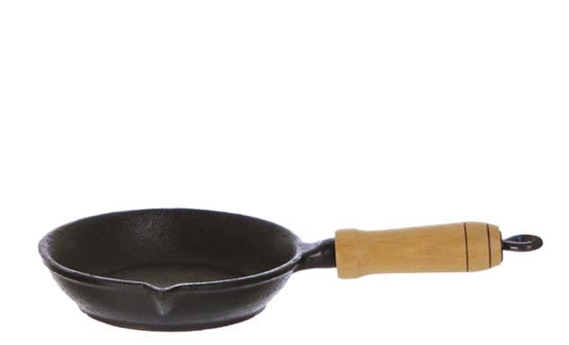 frigideira de ferro para ovo, egg pan, frigideira pequena de ferro para omelete, santana, 14 cm