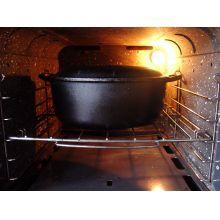 panela de ferro fundido forno holandês defumação panela mineira, 25 cm  dutchoven panela para pão,