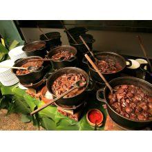 fogareiro ferro fundido, braseiro, lareira, gengis khan, panela, 32 cm