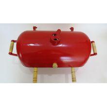 churrasqueira em aluminio fundido a bafo, mini churrasqueira no bafo vermelha
