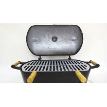 churrasqueira em aluminio fundido a bafo, mini churrasqueira no bafo preta
