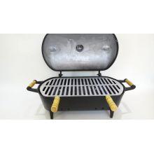 churrasqueira em aluminio fundido a bafo, churrasqueira no bafo preta